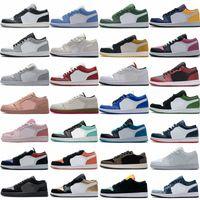 2021 Jumpman Düşük 1 1 S Basketbol Ayakkabı Üst Siyah Toe Mahkemesi Mor Travis Scotts Erkekler Erkek Kadın Sneakers OG Boyutu 36-46