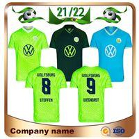 21/22 VFL WOLFSBURG Fussball Jersey 2021 Home Ginkzek Steffen Hemden Away Roussillon Mehmedi Mbabu Brooks Arnold Weghorst Fußballuniform