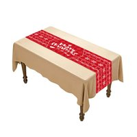 Merry Christmas decoration Designer black Red blue green runners table tablecloths home decorations atmosphere layout in stock