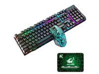 Tastiera di gioco wireless retroilluminato arcobaleno tastiera e mouse per tastiera e mouse meccanico impermeabile ricaricabile e mouse da gioco