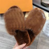 2020 Desiner Женщины Зимние плюшевые тапочки Внутренние Обува Обувь для горячей Очаровательки Теплые Fox Меховые тапочки для женщин Слайды Флайпы высочайшего качества с коробкой