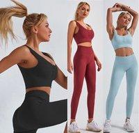 Tracksuits yoga track pants Womens Gym outfits Sportswear for girls Fitness Align pant Leggings workout sets tech wear fleece Active suit woman Button vest Designer