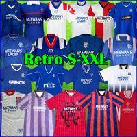 Camisas de futebol Retro 93 94 Glasgow Rangers 82 83 87 88 90 1992 1994 1995 96 97 99 2000 2002 Kits vintage GASCOIGNE MCCOIST Camisas de futebol clássicas de topo