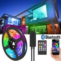 LED-Streifen SMD Bluetooth RGB Flexibles Tape mit Controller 12V 24V 5m 10m 15m 20m für Home Schlafzimmer Room Lichter Dekoration