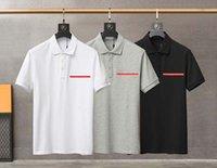 21 ss männer gedruckt t shirts dreieck männer kleidung kurze hülse herren shirts Tag Buchstaben polo neu schwarz weiß 02