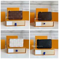 2021 Carteira de designer Carteira Keychain Keyring Moda Moda Pingente Corrente de Carro Charme Brown Flor Mini Bag Trinket presentes Acessórios com caixa