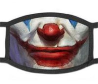 Lustige Clowns Maske Druck Mascarillas Baumwolle Mode Pop Mundtuch Maske Magie Wiederverwendbare Erwachsene Gesichtsmaske Karneval Anti-Staubfilter 84 V2