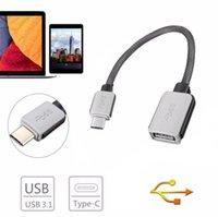Тип C USB 3.1 Мужской разъем к женскому ОТГ ДАННЫЕ Плетеный кабельный адаптер для Huawei P9 P10 Plus Phone Xiaomi LG