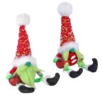 DHL Grinch Christmas Brinquedo De Pelúcia Animais Rudolph Feleless Boneca Pé Pose Pose Dolls Home Shopping Shopping Janela Decoração Ornamentos C2991