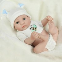 10 '' Reborn Baby Lalki Realistyczne Noworodek Pełny Silikon Winylowy Realistyczne Dollowe Prezenty Dzieci Boże Narodzenie