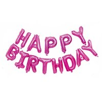 Happy Birthday Balloons Banner Party Decorations Tall 16 inch Aluminum Foil Letters for Kids Men Women