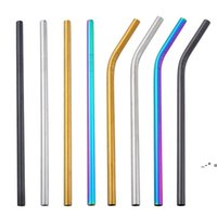 Reusable 8MM Stainless Steel Straw Drinking Straw Food Grade SS304 Colorful Straw Wholesale Bar Drinking Tools NHA8040
