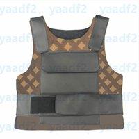 Коричневые цветы буквы тактические жилеты мода кожаный защитный жилет открытый охотничий цикл жилет женские мужские винтажные танки