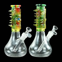 Eye Resin Glass Beaker Bong Smoking Tobacco Pipe Water Dab Rig Novely Hookah