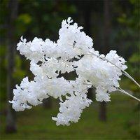 실크 gypsophila 인공 꽃 장식 홈 플라스틱 줄기 신부 결혼식 꽃다발 Mariage 벚꽃 가짜 꽃 DIY ZZE5159