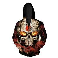 2021 Cleveland Men's cool football sportswear Splash ink paint red helmet print Browns 3D Zipper Hoodies