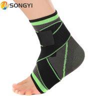 Songyi 1PC Bandage Bandage Bandage Поддержка наручных спортивных тренажерный зал Badminton Ankle Brace Protector Phot ремень Рукава ремень эластичный S63