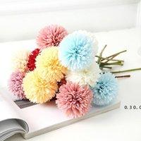 الزهور الاصطناعية تنس الطاولة أقحوان زينة زهرة الهندباء الزفاف الديكور ترتيب زهرة الاصطناعي ديزي EWF5211