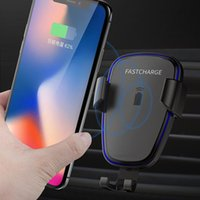Cell Phone Mounts & Holders Car Mount Qi Wireless Charger For XS Max X XR 8 Plus Fast Charging Holder IphoneX IphoneXS