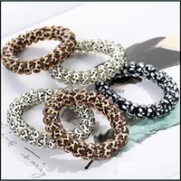 Aessories & Tools Productswomen Girl Telephone Wire Cord Gum Coil Ties Girls Elastic Bands Ring Rope Leopard Print Bracelet Stretchy Hair Ro