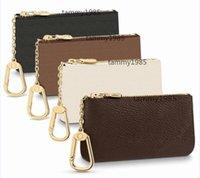 Alta Qualidade Moda Moda Bolsa Luxurys Designers França Estilo Moedas Malas Carteira Homens Mulheres Senhora Couro Zip Bolsa Chave Carteiras Mini Cartão de Crédito