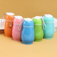 Water Bottles 300ml Steel Cup With Lanyard Cute Big Belly Portable Vacuum Leakproof Gift For Kids Anti-scald Design T3T3
