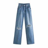 BBWM Jeans Jeans Vita alta Vestiti Denim Abbigliamento Blu Streetwear Vintage Quality Fashion Foro Harajuku Pantaloni dritti 210608