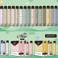 85 colori Original Miso Plus Kit penna di sigaretta monouso VAPE 0% Livello 800+ Pulves 550mAh High pure Colbat Battery Battery Pod Cartridge Ecigrettes
