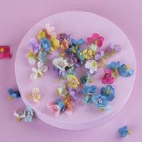 Decorative Flowers & Wreaths 50pcs Mini Daisy Flower Head Silk Multicolor Artificial For Wedding Engagement Party Home Decor DIY Garland Hea