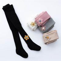 Girls Leggings Pantyhose Kids Tights Cotton Flower Baby Trousers Toddler Skinny Pants Spring Autumn Children Clothing M3673