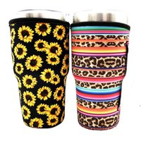 Iced Coffee Cup Sleeve Neoprene Insulated Sleeves Cup Cover For 30oz 32oz Tumbler Water Bottle With Carrying Handle Holder Bags DWA4189