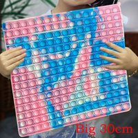 300mm 슈퍼 큰 크기 Antistress 장난감 넥타이 염료 라거 푸시 큰 크기 거품 Fidget 감각 장난감 자폐증 스트레스 reliever 장난감 2021