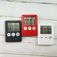 Büyük Dijital LCD Mutfak Pişirme Zamanlayıcı Sayımı Yukarı Saat Alarm Kronometre Pişirme Manyetik Araçlar Basit Yaşam Pratik Kullanım