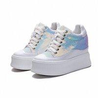Bayan Düz Platformu Ayakkabı 2019 Bahar Moda Sequins Gizli Topuk Sneakers Takozlar Ayakkabı Kadın Sonbahar Sneakers Ayakkabı Yüksek Topuk Ayakkabı F7KI #
