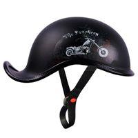 Motorcycle Helmets Helmet Vintage Moto Riding Open Face Retro Casco Half Motobiker Racing Chopper Biker Size M-XXL