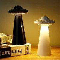 Lumière de nuit LED UFO Design USB Rechargeable Lampe de table pour enfants Dimmable Lecture sans scintillement Lampe de chevet Smart Night