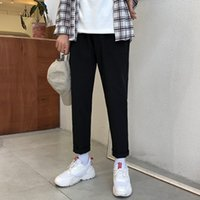 B açık cep tasarım gevşek ve çok yönlü rahat sonbahar duygu düz renk rahat ayak net düz moda takım elbise pantolon basit