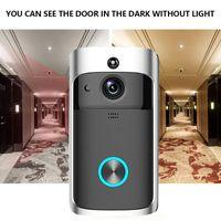 Dossier vidéo sans fil Wi-Fi Vidéo Video Bell Pir Détection 2-Way Talk Video-Eye pour les appartements Porte Caméras de sécurité