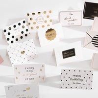 Tebrik Kartları 15 adet / grup Mix Tasarımlar Dilekler Için Teşekkürler Katlanır Kart Hediye Mesaj DIY Dekorasyon Tatil Zarf