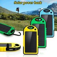5000mAh Solar power bank waterproof shockproof Dustproof portable Solar powerbank External Battery for All Smart Phone
