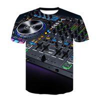 Summer T-shirt Dj Led Light T-shirt Punk Cd Tshirt Tee Men Funny Printed Shirt Tees