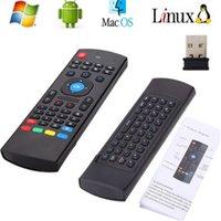 2.4G Controles remotos inalámbricos MX3 Teclado de ratón de aire de vuelo para Android TV Box MXQ M8S Mini PC