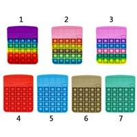 Fidget Juguetes Sólido Rainbow Calculadora Antiestrés Decompresión Toy Cálculo matemático Ejercicio Ejercicio Logical Habilidad Estrés Alivio Interactivo juego