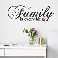 Wall Stickers Inspirational Quotes Family Is Everything Sticker Modern Style Living Room Bedroom Home Decor Decals Wallpaper Door