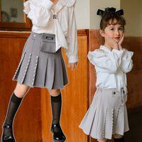 소녀는 허리 가방 스커트를 구슬 수있는 고품질 어린이 사랑 하트 펄 Pleated 스커트 A5844
