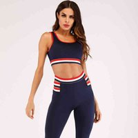 2Pcs Yoga suit Set Seamless Women Fitness Clothing Sports Wear Gym Leggings Padded Push Up Strappy Bra Sport running Suit