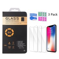 3 Pack Screen Protectors For 12 mini 11 PRO XR XS MAX 5.8 6.1 6.5 inch 6S 6 7 8 Plus Tempered Glass 0.3mm 2.5D One Package