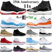 2021 أعلى qyality jumpman 11 11 ثانية أحذية رجالي كرة السلة bed 25th الذكرى كونكورد 45 الفضاء مربى منخفضة الأسطورة الأزرق ثعبان النساء الرياضة أحذية رياضية