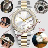 16 Renk Kalite Deluxe Mens Mechanica Otomatik Altın İzle 41mm Paslanmaz Çelik Elmas Su Geçirmez Gümüş Serisi Klasik Saatı