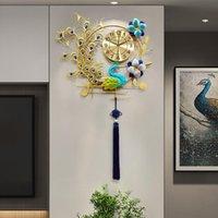 Duvar Saatleri Saat Oturma Odası Sanat Atmosfer Ev Yemek Salonu Giriş Dekorasyon İzle Kişilik Yaratıcı Tavuskuşu Phoenix